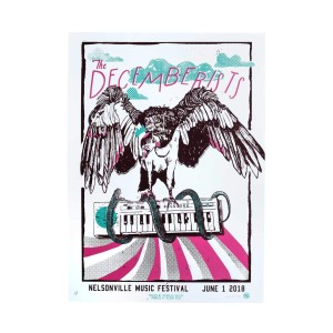 The Decemberists At Nelsonville Music Festival June 1st 2018 Poster