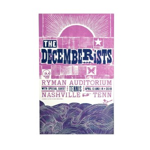 The Decemberists At Ryman Auditorium In Nashville, TN April 13th & 14th 2018 Poster