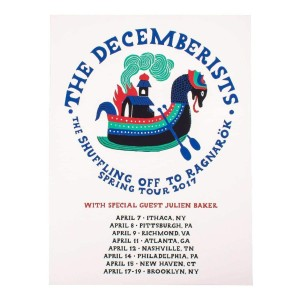 """The Decemberists Spring Tour 2017 Poster - 18"""" x 24"""""""