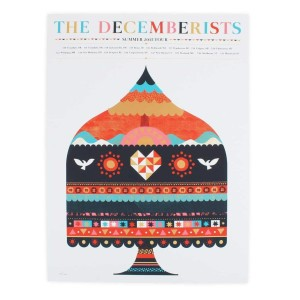 """The Decemberists Summer Tour 2015 Poster - 18"""" x 24"""""""