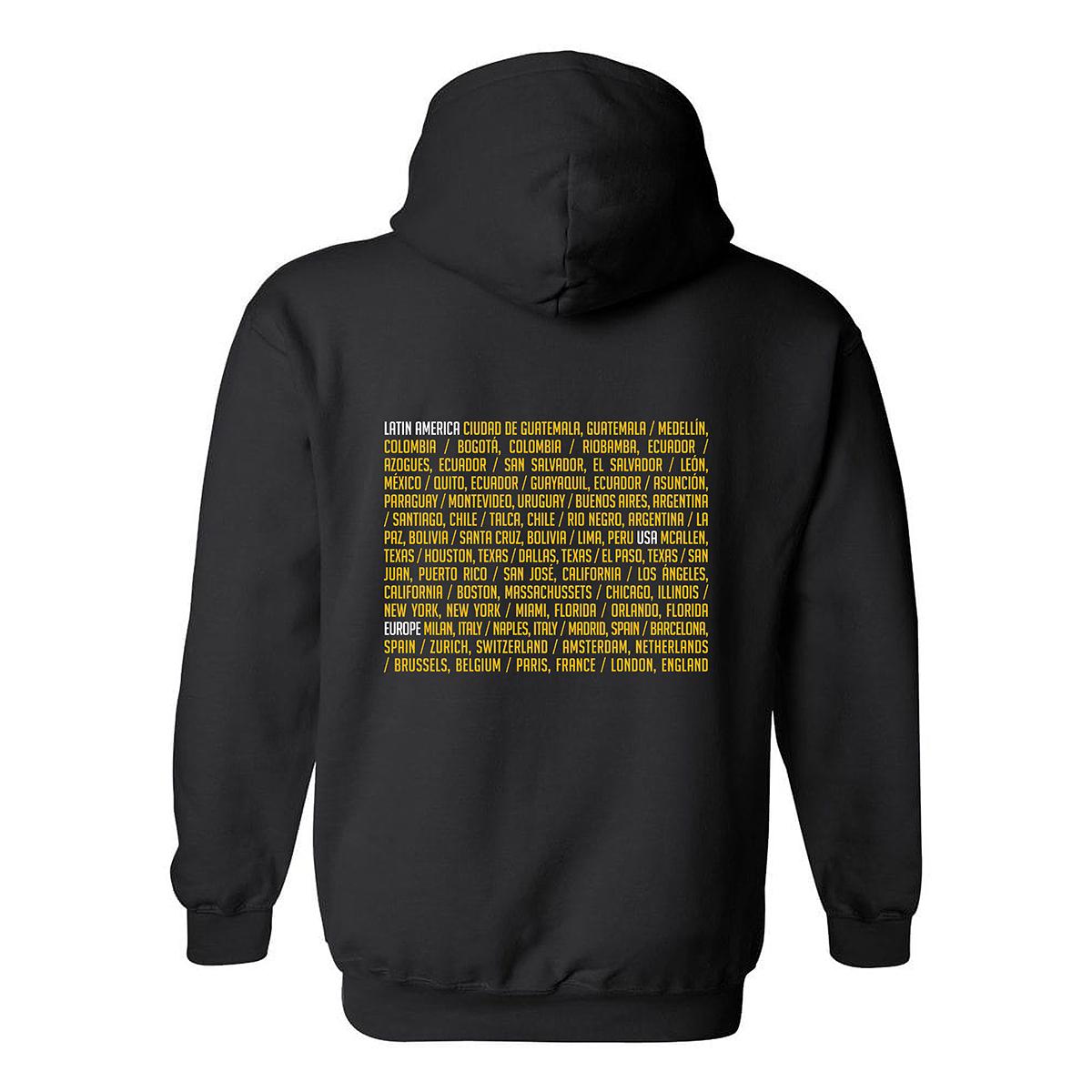 CNCO - La Gira Mundial, Sudadera negra con capucha