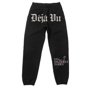 Déjà Vu Pantalones Deportivos Negros