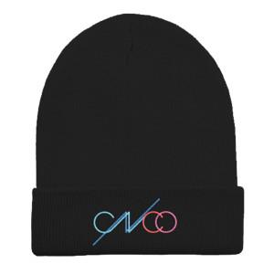 QQS Gorro Negro con Logo Colorido