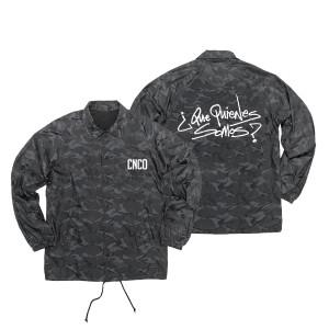 CNCO - Chaqueta de entrenador de camuflaje negra
