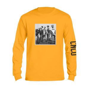 CNCO - Camiseta foto manga larga amarilla