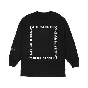 QQS Camiseta Foto N&B Con Mangas Largas