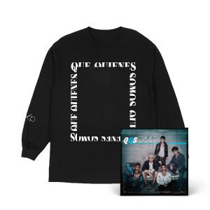 QQS foto en blanco y negro, Camiseta con mangas largas y album digitál