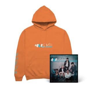 QQS Hoodie color naranja con album digitál