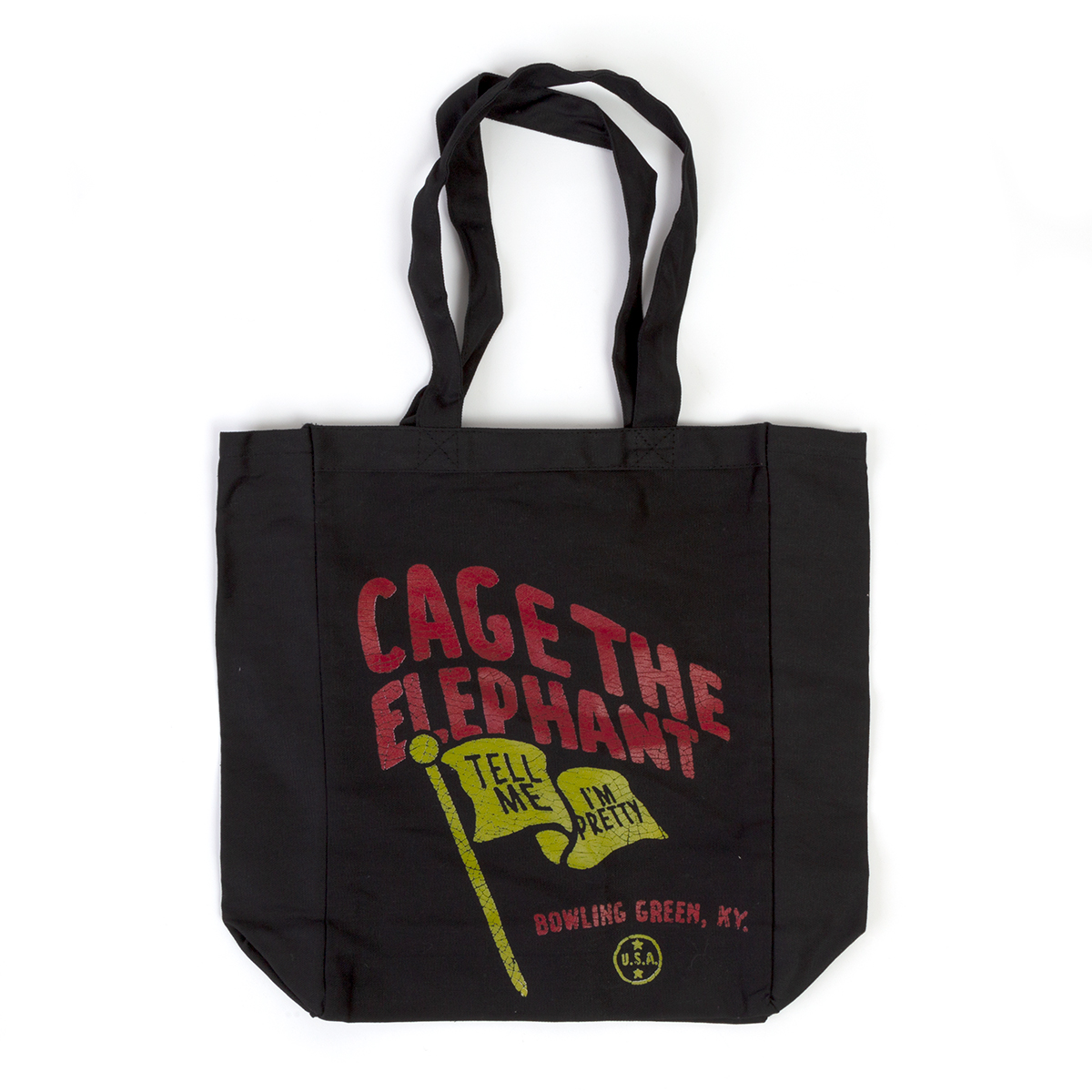 Tell Me I'm Pretty Black Tote Bag