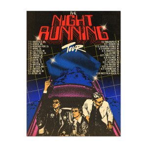 The Night Running Tour Lithograph
