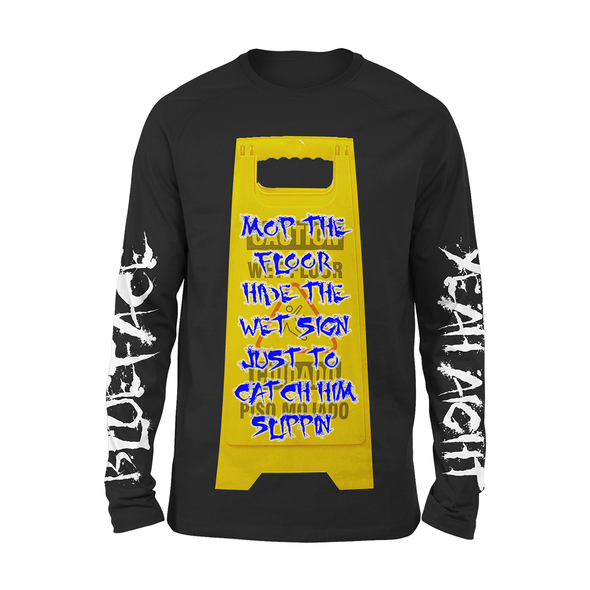 Caution Sign Long Sleeve Tee