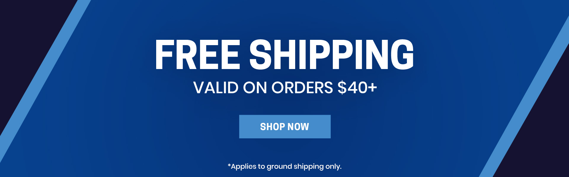 Free shipping on orders $40+