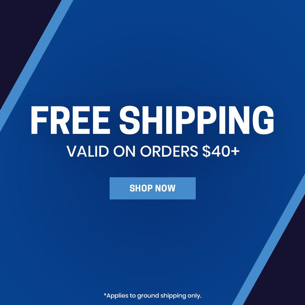 Free shipping valid on orders $40+