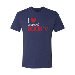C-SPAN2 Heart Book TV T-Shirt (Vintage Navy)