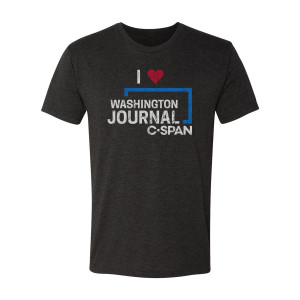 C-SPAN Heart Washington Journal T-Shirt (Vintage Black)