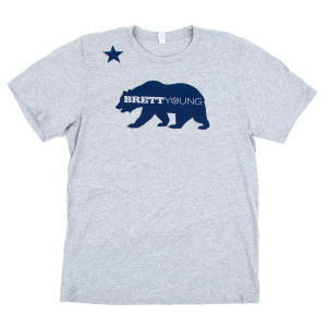 California Bear Heather Grey T-Shirt