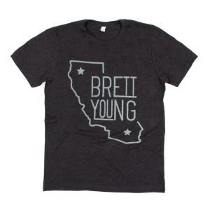 Brett Young Grey California T-Shirt