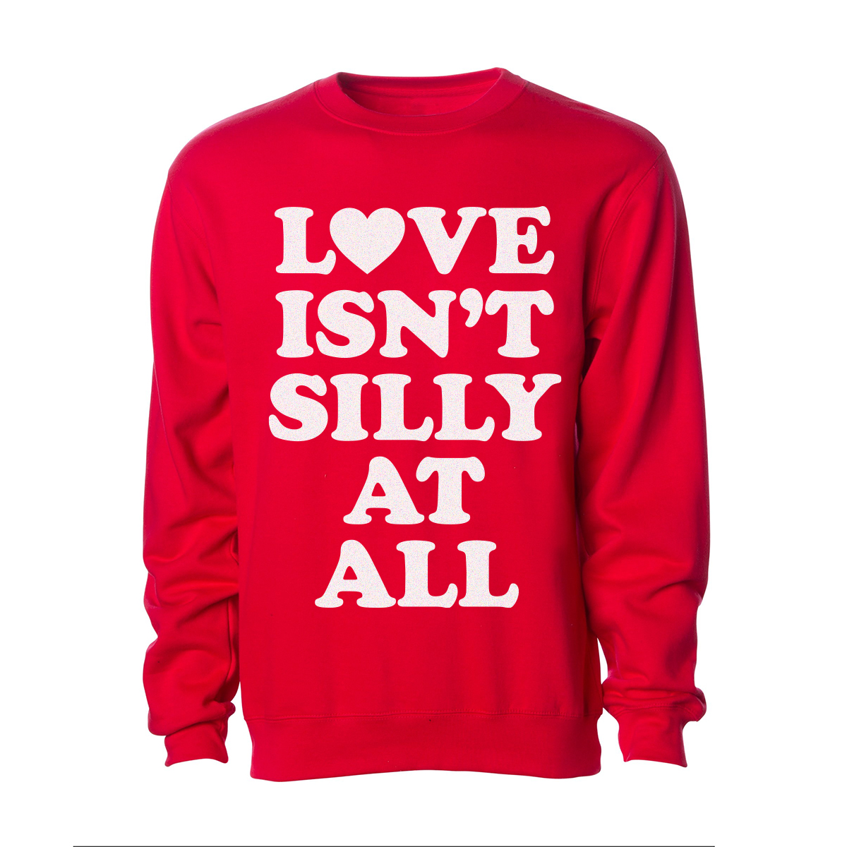 Silly Love Songs Red Crewneck