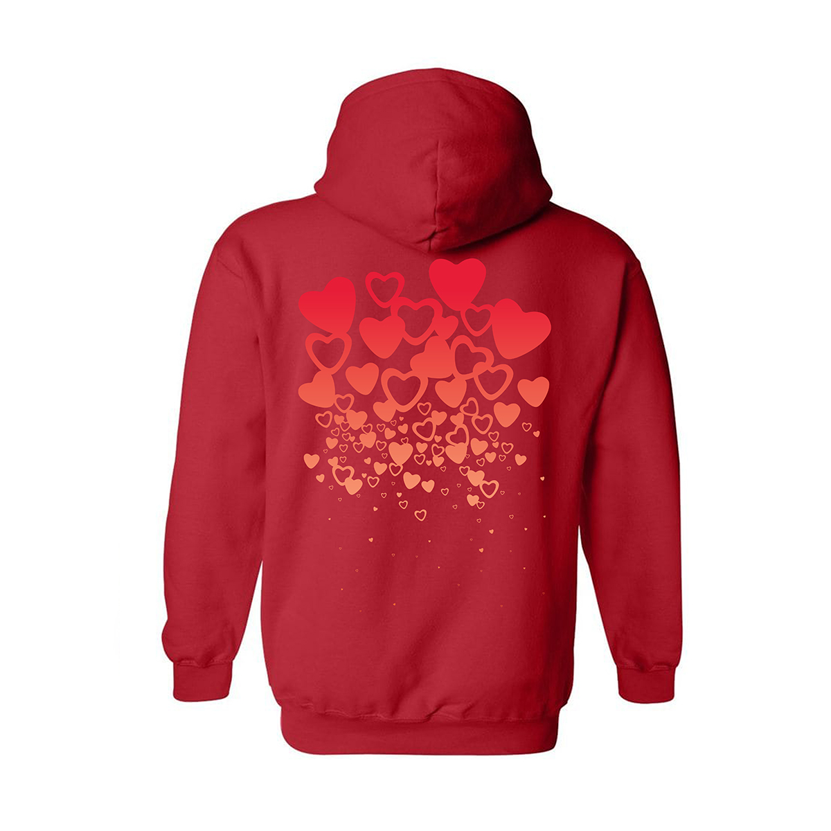 A Tribe Called Quest Bonita Raining Hearts Gradient Hoodie