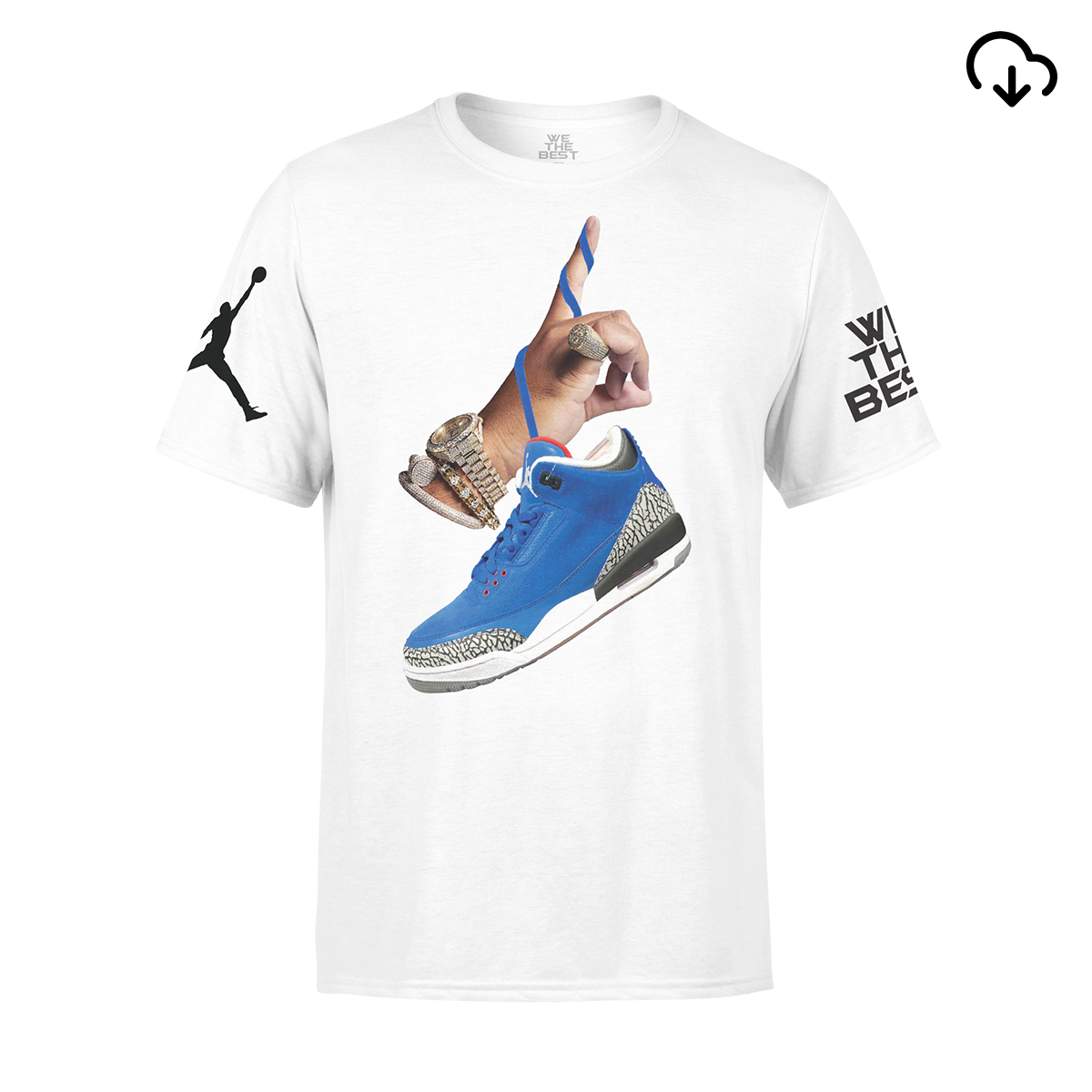 DJ Khaled x Jordan Suede Sneakers T-shirt - White