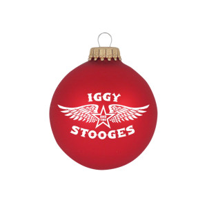"""Iggy and the Stooges Wings 3 1/4"""" Glass Ornament"""
