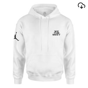 DJ Khaled x Jordan Leather Sneakers Hoodie - White + Father of Asahd Album Download