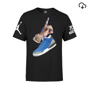DJ Khaled x Jordan Suede Sneakers T-shirt - Black + Father of Asahd Album Download