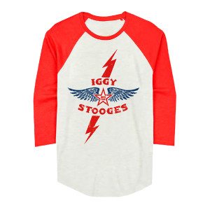 Iggy and The Stooges Lightning Bolt and Wings Raglan
