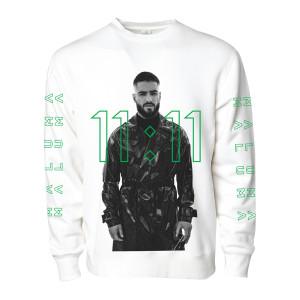 Maluma 11:11 White Crewneck Sweatshirt
