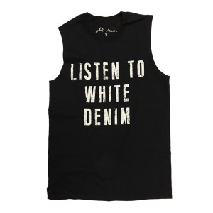 Listen To White Denim Tee