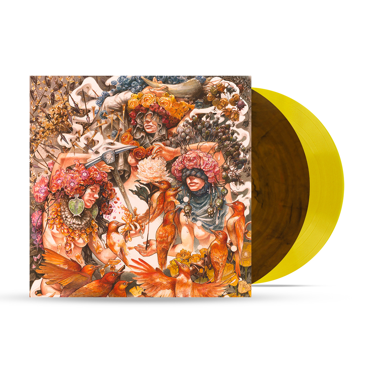 Gold & Grey Yellow Marble Vinyl - Limited To 1000 Units