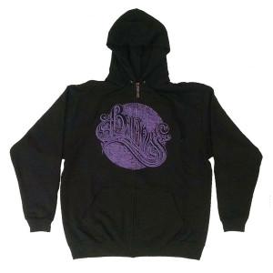Purple Album Art Black Zip Hoodie