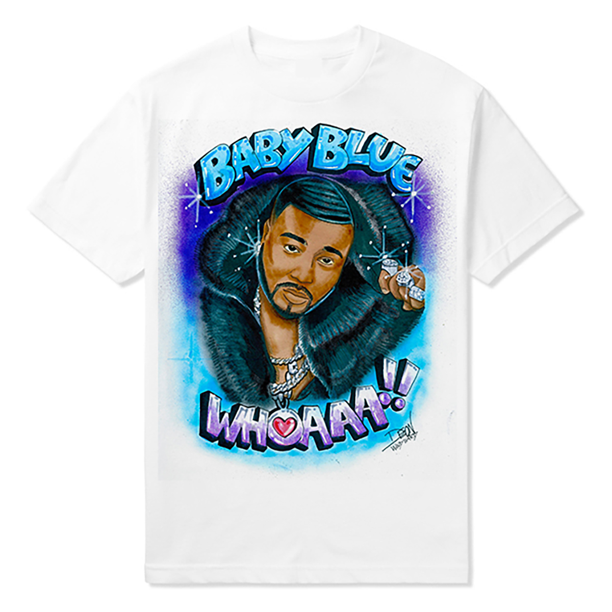 Baby Blue Airbrushed Tee