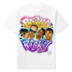 Pretty Ricky Airbrushed Tee