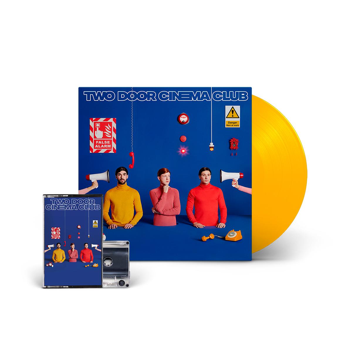 False Alarm Limited Edition Yellow D2C Exclusive 180 Gram LP + Cassette