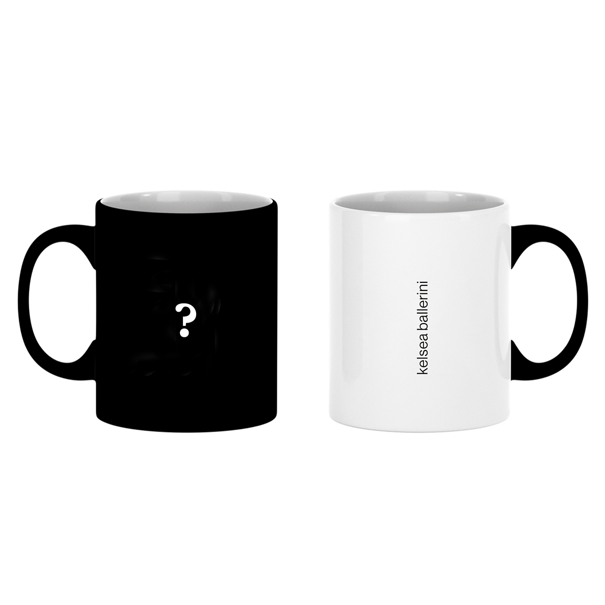 Question Mark Color Changing Mug