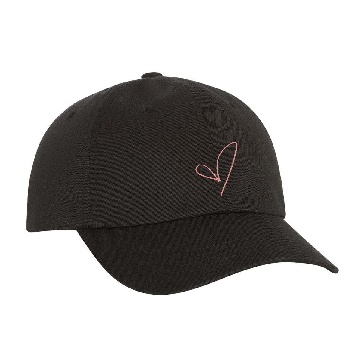 Embroidered Heart Dad Hat