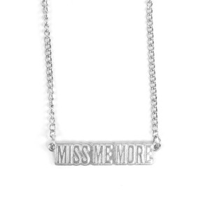 Silver Miss Me More Necklace