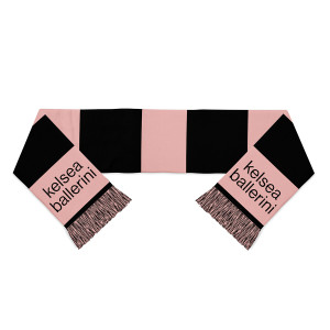 Black and Pink Colorblock Scarf