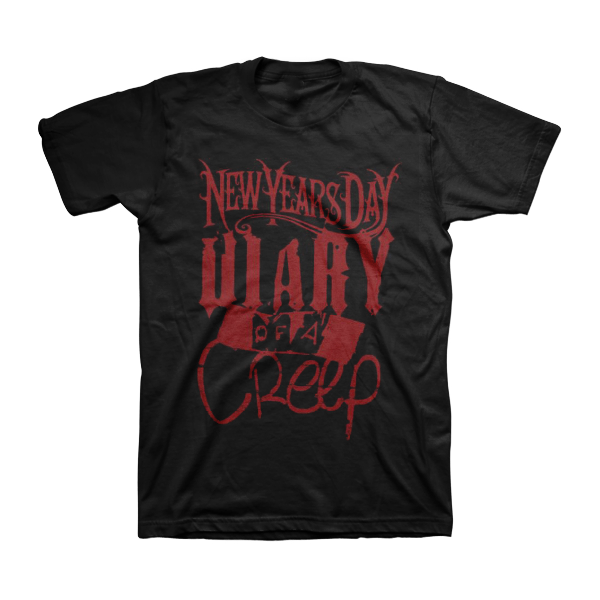 New Years Day - Diary of a Creep Black T-Shirt