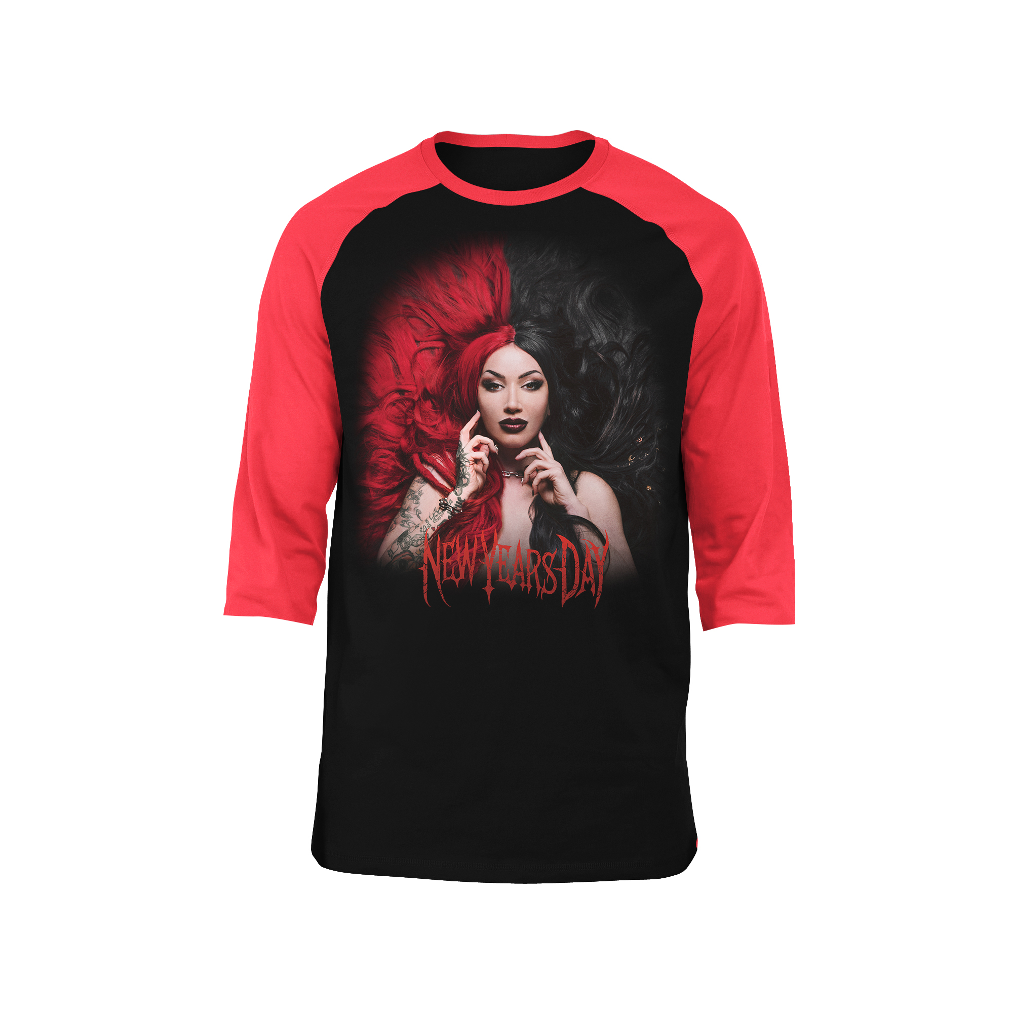 New Years Day - Unbreakable Black Raglan Long Sleeve T-shirt