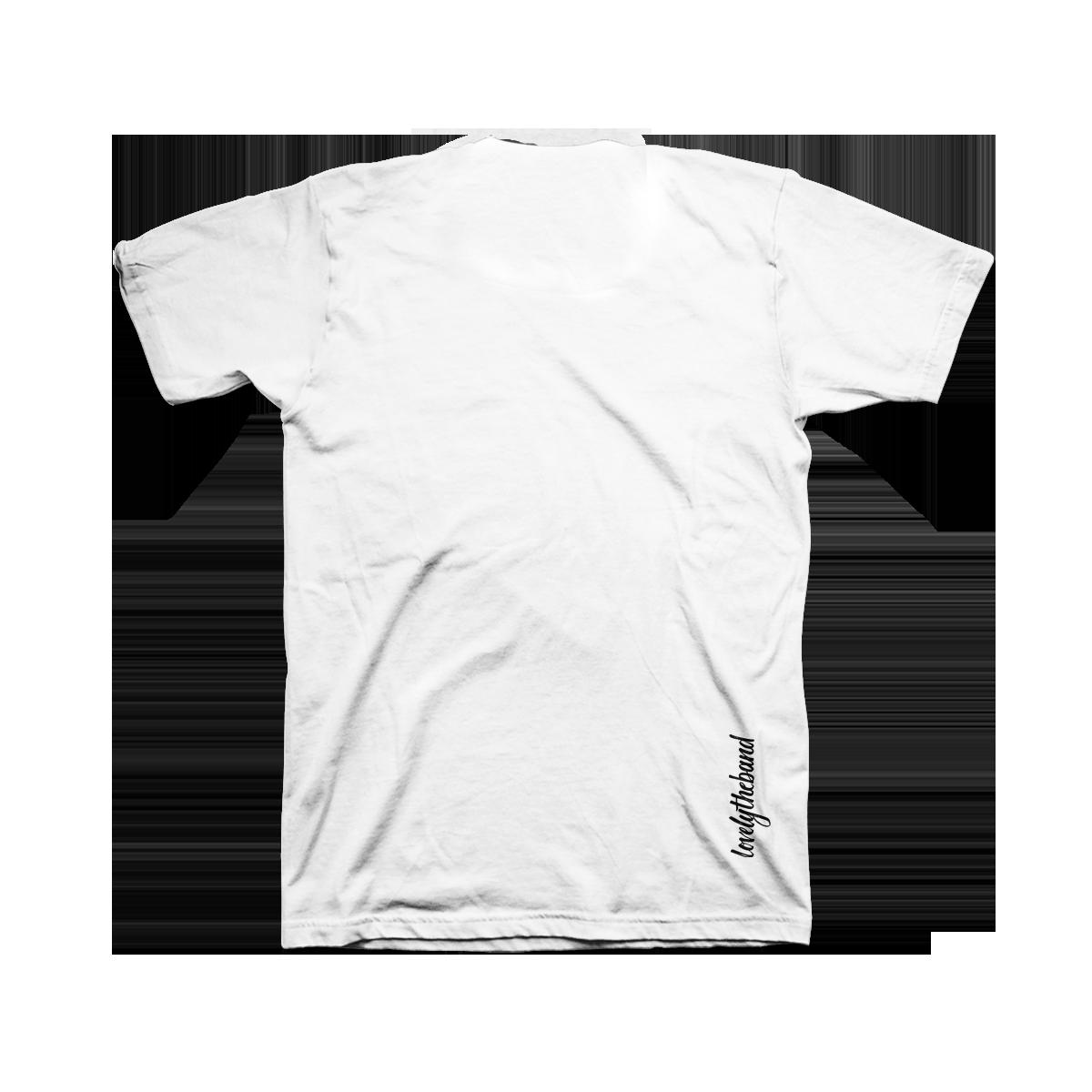 lovelytheband black and white photo t-shirt
