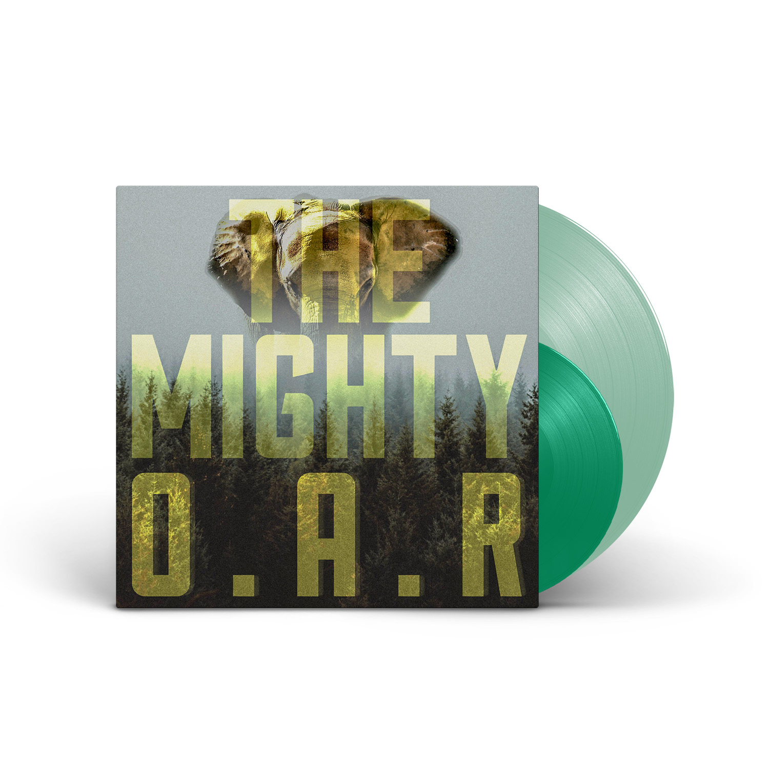 """O.A.R. - The Mighty 180g Coke Bottle Green LP + Clear Green 7"""""""