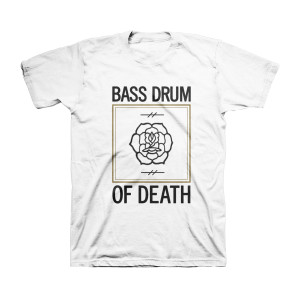 Bass Drum of Death - Rose White T-Shirt