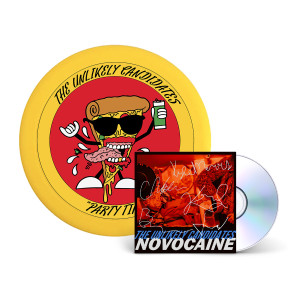 The Unlikely Candidates - Novocaine CD + Pizza Guy Frisbee