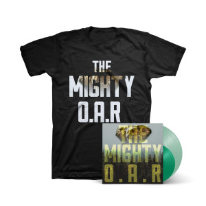 """O.A.R. - The Mighty 180g Coke Bottle Green LP + Clear Green 7"""" + T-Shirt"""