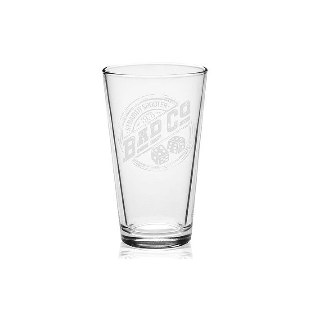 Straight Shooter 1975 Laser-Etched Pint