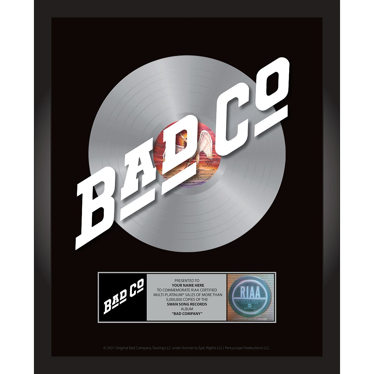 Bad Company Personalized Award Plaque