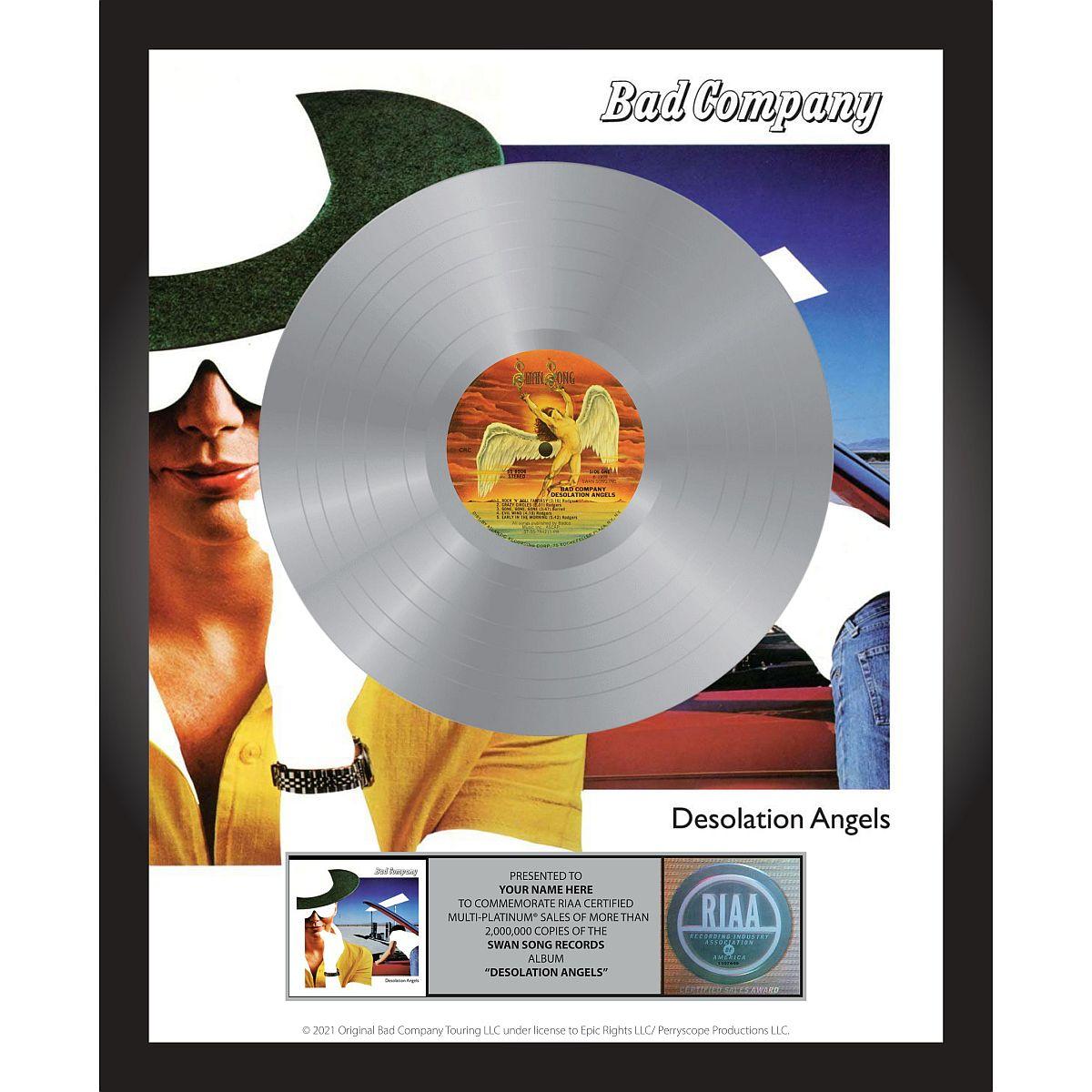 Bad Company Desolation Angels Personalized Award Plaque