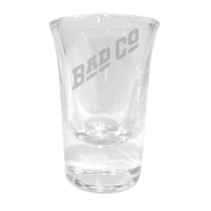 Diagonal Logo Laser Engraved Shot Glass
